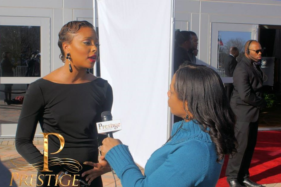 Prestige interviewing Eva Marcille