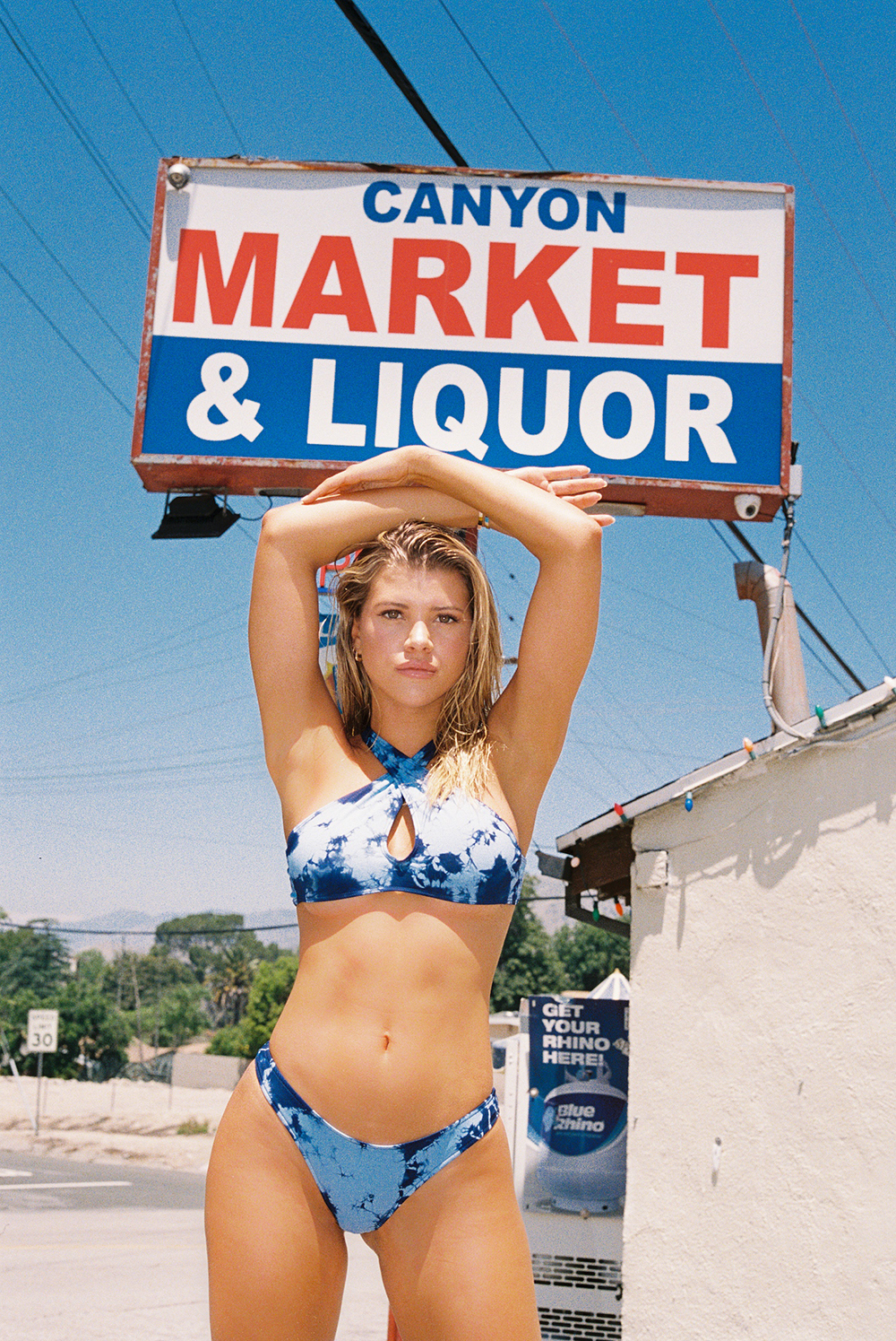 Sofia Richie plays the sexy California girl in new swimwear shoot for Frankies Bikinis